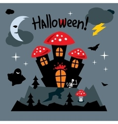 Happy halloween concept cartoon vector
