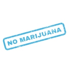 No marijuana rubber stamp vector