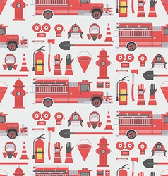 Fireman seamless pattern vector