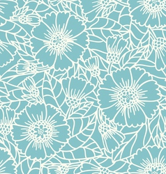 Daisy doodle pattern vector
