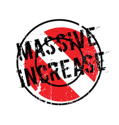 Massive increase rubber stamp vector