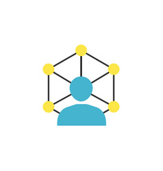 Community network flat icon vector