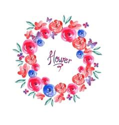 Floral frame invitation card vignette vector