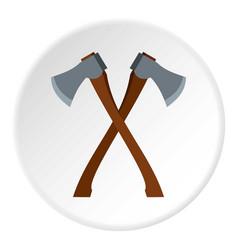 2 axe icon circle vector