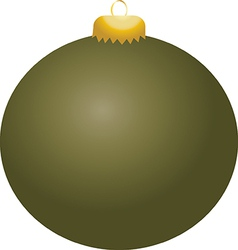 Olive ball ornament vector