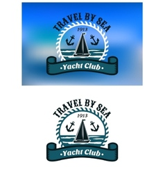 Yacht club emblem or badge vector