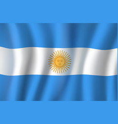 3d flag of argentina national symbol vector