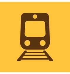 The train icon railway symbol flat vector