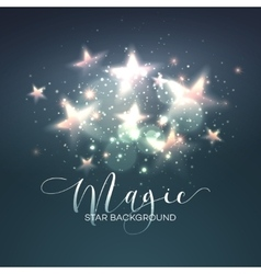 Defocused magic star background vector