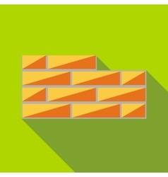 Brick wall icon flat style vector
