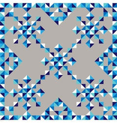 abstract triangle snowflake pattern vector image vector image