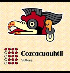 aztec cozcacuauhtli vector image vector image