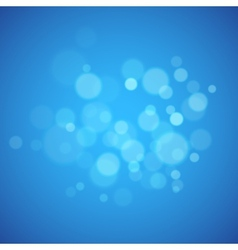 Blue background with defocused lights vector image vector image