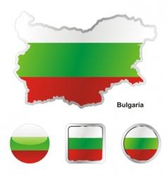 Bulgaria flag vector image vector image