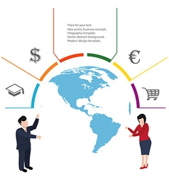 Business concept infographic vector