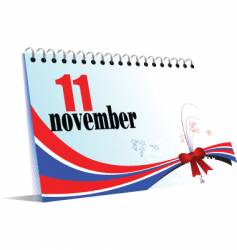 calendar page 11 november vector image vector image