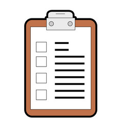 Checklist clipboard isolated icon vector