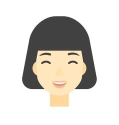 Cheerful woman experiencing euphoria vector