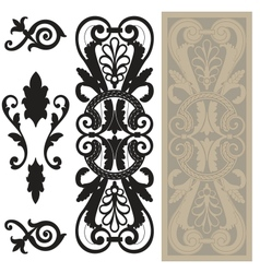 Decorative pane vector