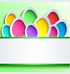 Easter card with colorful 3d egg vector