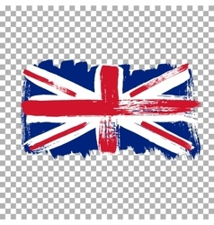 Flag of Great Britain on an empty background vector image