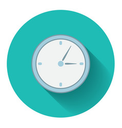 Flat design modern of analog clock icon vector image