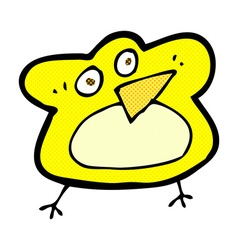 Funny comic cartoon robin vector
