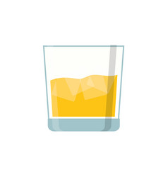 glass of whisky vector image vector image