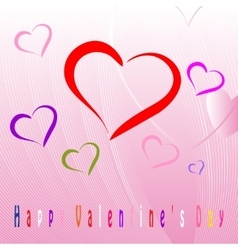 Happy Valentines Day celebration greeting card vector image vector image