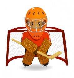 hockey goalkeeper vector image