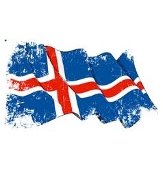 Iceland flag grunge vector