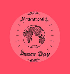 International peace day on vector