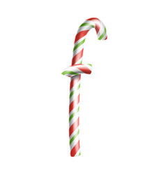 letter f 3d realistic candy cane alphabet vector image