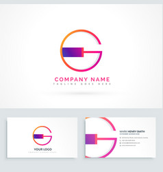 letter g logo design template vector image