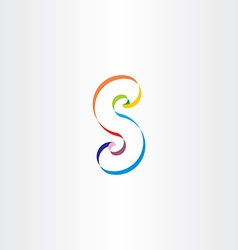 letter s colorful ribbon logo vector image vector image