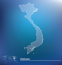 Map of vietnam vector