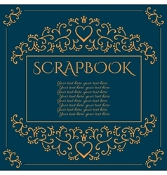 Scrapbook background with scroll patterns vector