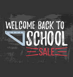 Welcome back to school sale typographic vector