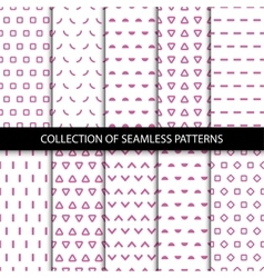 Simple seamless geometric patterns vector image