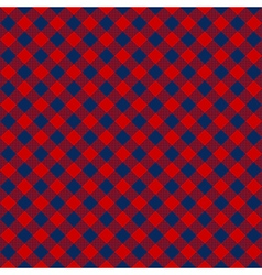 Blue red check diagonal fabric texture seamless vector