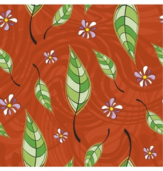 Pattern of leaves vector