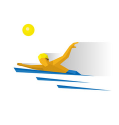 swimmer in the water marathon swimming vector image