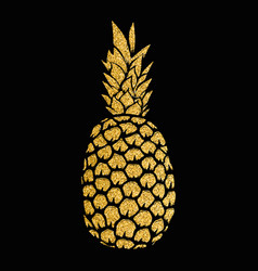 Pineapple gold isolated on white background vector