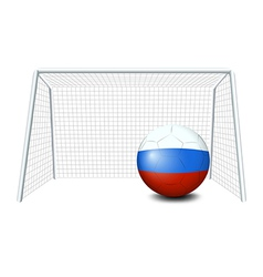 A soccer ball with the flag of netherlands vector