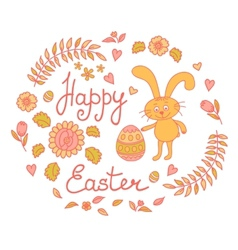 Postcard with easter vector