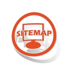 Sitemap sign sticker orange vector