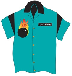 Bowling shirt vector