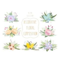 Decorative floral composition vector image
