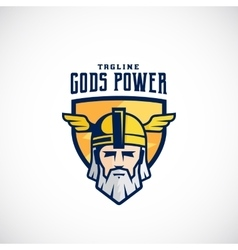 Gods power sport team or league logo vector