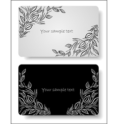 abstract floral cards vector image vector image
